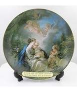 Lefton Madonna and Child Collectible Handpainted China Plate Wall Decor - $29.68