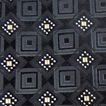 Nicole Miller Black White Diamond Geometric Woven Men Neck Tie Mens Z1-325 Ties - $15.83
