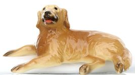 Hagen Renaker Miniature Dog Golden Retriever Lying Ceramic Figurine image 4