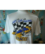 Vintage 80s Kraco Indy Car Racing Team Michael Andretti T Shirt L  - $49.49