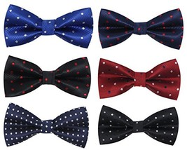 Pre Tied Formal Suit Bow Ties for Men 6 Pcs by JAIFEI Adjustable Neck Strap P