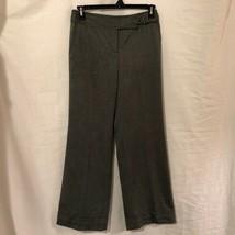 Ann Taylor LOFT Womens 4 Trousers Gray Wool Career Dress Pants Lined Cuf... - $14.98