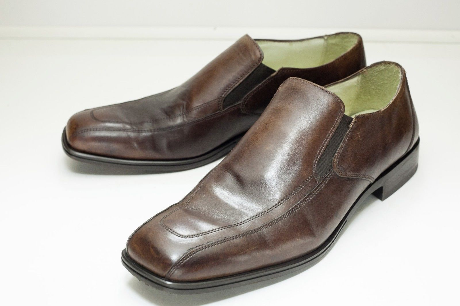 Kenneth Cole 11 Brown Slip-On Dress Shoes Men's - $42.00