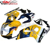 Yellow Blue Black Fairings for 2001 2002 2003 Suzuki GSXR600 2000 GSXR75... - $645.88
