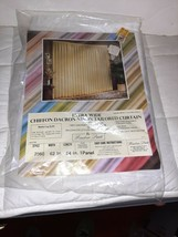 """Chiffon Sheer Curtain Panel 54 X 62"""" White - includes ONE Window Panel V... - $12.19"""