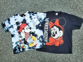 Vintage Disney Designs Mickey Unlimited Minnie Mouse Shirts 3XL Tie-dye ... - £50.75 GBP