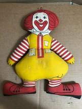 "Vintage Ronald McDonald Clown Plush Toy - 16"" McDonalds Stuffed Doll * - $11.29"