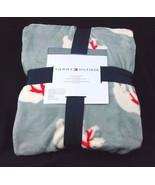 "Tommy Hilfiger Twin Plush Blanket 60"" x 90"" Gray Polar Bear - $49.99"