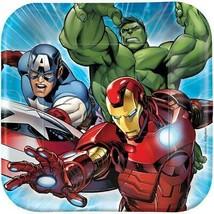 Avengers Assemble Dessert Plates 8 Ct Birthday Party Supplies Hulk Iron Man New - $4.21