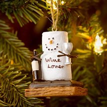 Christmas Decoration S'mores Wine Lover Christmas/Everyday Ornament - $9.85