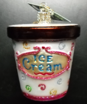 Old World Christmas Christmas Ornament 2011 Ice Cream Carton Returned Ornament - $8.99