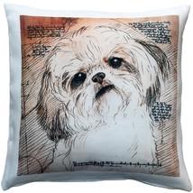 Pillow Decor - Shih Tzu Tilted Head Dog Pillow 17x17 - $49.95