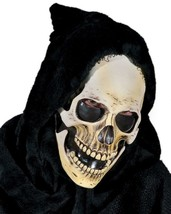 Skull Mask Hooded Grim Devil Demon Krampus Eerie Halloween Costume Party... - $79.53 CAD