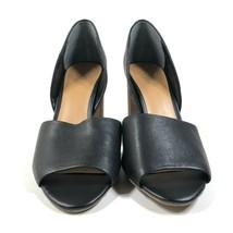 "NEW Franco Sarto Pumps Black Leather Wooden Block Heels Womens 12 M 4"" $89 - $25.23"
