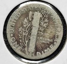 1921 Silver Mercury Dime 10¢ Coin Lot# A 600 image 2