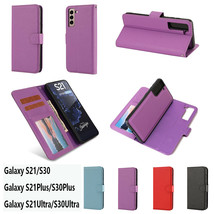 Leather Wallet Magnetic flip cover Case For Samsung S21+ S20+ FE Note 20 Ultra - $49.55
