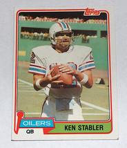 1981 TOPPS #405 THE SNAKE KEN STABLER HOUSTON OILERS NFL CARD OAKLAND RA... - $9.39