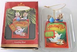 Hallmark Keepsake Ornament Friendship Blend Holiday Tea 1997 Mice Teabag... - $9.89