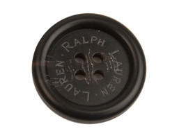 "Ralph Lauren Black Plastic Main Replacement  button .90"" - $6.88"