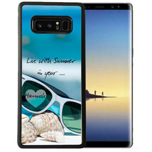 Personalized Case Fits Samsung Note 9 7 5 4 Summer Your Heart Sunglasses - $13.98