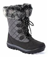 Bearpaw Womens Boots Waterproof Black Snow Rain Cassie Style Faux Fur Lo... - $64.30