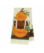 "2 Kitchen Towels Stacked  Pumpkins And Football  ""FALL FOOTBALL Friends""... - $7.00"