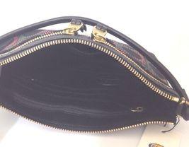 fossil Erin noir gris rose cuir toile petit sac à bandoulière image 8