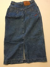 "Vtg Jordache Denim Skirt USA Size 9 High Waisted Pencil Skirt 30""long 80s - $24.75"