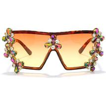 Oversized Colorful Diamond Sunglasses Women Luxury Fashion One Piece Square Sung image 8