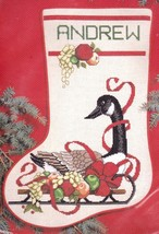 Janlynn Christmas Canada Sleigh Goose Sled Cross Stitch Stocking Kit 00285 E - $42.95
