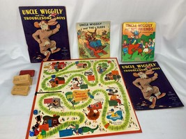 Vintage Uncle Wiggily Lot W/ Board Game Complete 1961 Milton Bradley + 4... - $22.00