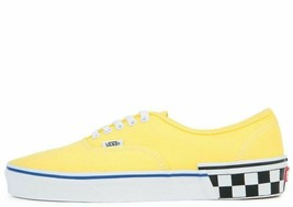 MENS VANS AUTHENTIC VN0A38EMVJS (CHECK BLOCK) BLAZING YELLOW DEADSTOCK B... - £30.08 GBP