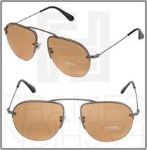 Prada Teddy PR58OS Aviator Orange Mirrored Gunmetal 5AV-1J2 Sunglasses 58O - $292.05