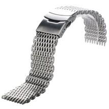 YISUYA Silver 22mm Band Stainless Steel Mesh Web Wrist Watch Band Strap Bracelet - $41.74