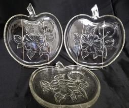 Vintage Hazel Atlas Apple Snack Plates Only, No Cups (set of 4), Circa 1... - $18.00