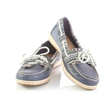 Sperry Top Sider Blue Leather Striped Boat Shoes Loafers Casual Shoes Wo... - $24.57