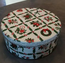 Vintage Christmas ACC Fruitcake round tin Continental Baking Company, In... - $12.00