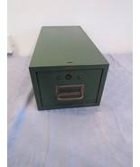 Vtg Green Cole-Steel Metal 4x6 Index Card File Recipe Box Drawer Industr... - $24.78