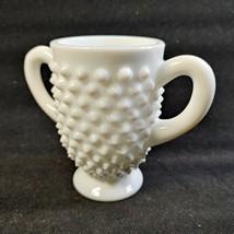 Vintage Fenton White Milk Glass Vase * Hobnail - $19.55