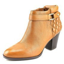 Alfani Wakefeld Women Pointed Toe Leather Brown Bootie, Nut, Size 6.5 - $46.84