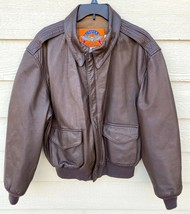 Us Air Force Cooper Flyers Men's Leather Type A-2 Flight Jacket - Size 46R - $183.15