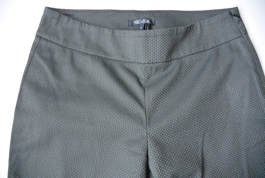 223a5ab543d Nic+Zoe Pants 2 XS Flat Front Textured Slim Stretch Size Anthropology