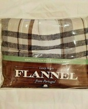 Flannel from Portugal Cal King 4 Pc Flannel Sheet Set  Plaid - $58.20
