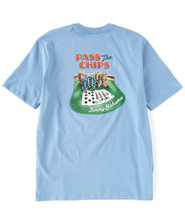 Tommy Bahama Men's Pass The Chips Tee, Blue Yonder, X-Large - $39.59