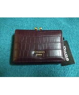 Dune London berry colored wallet new with tags croc pattern - $17.00