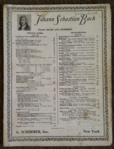 FANTASIA Johann Sebastian Bach  Piano Solos & Ensembles Sheet Music Mid ... - $11.98