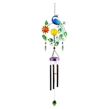 Peacock Solar Wind Chime - $32.98