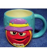 Blue With Red M & M Ceramic cup Mug - $13.10