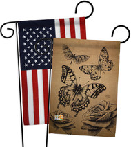 Butterflies Burlap - Impressions Decorative USA - Applique Garden Flags ... - $30.97