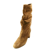 Via Spiga Womens Naren Suede Slouch Boots Mid Calf Brown US Size 8.5M New - $48.67